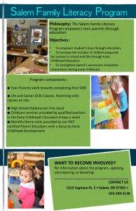 Salem Family Literacy Program Poster