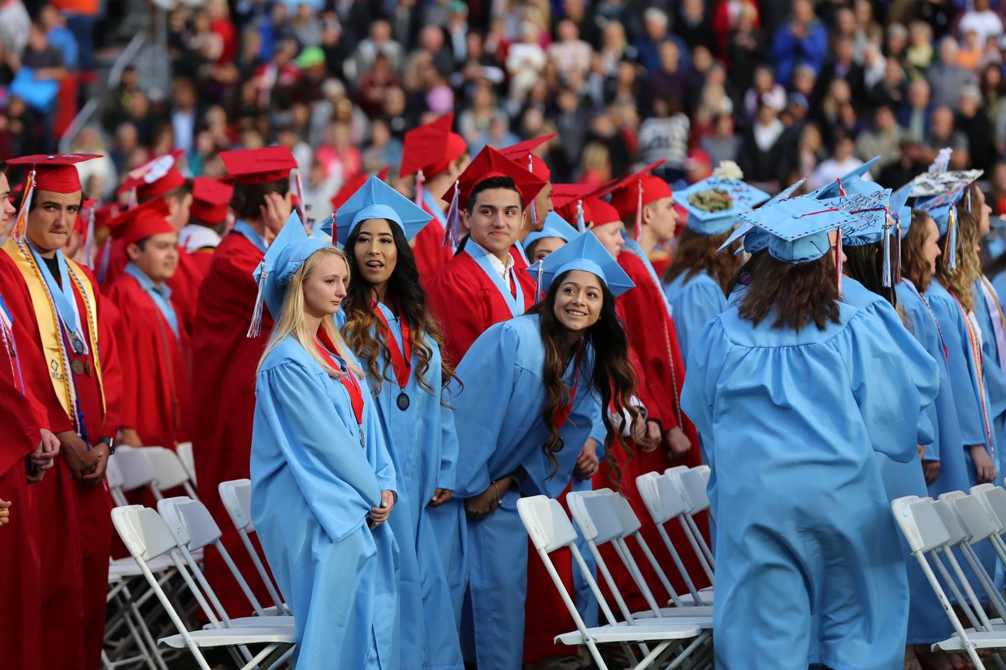 Image of South High students at 2017 graduation