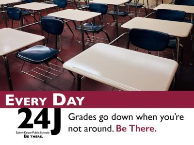 Grades Go Down When You're Not Around. Be There.
