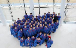 South Salem choir students in blue choral robes