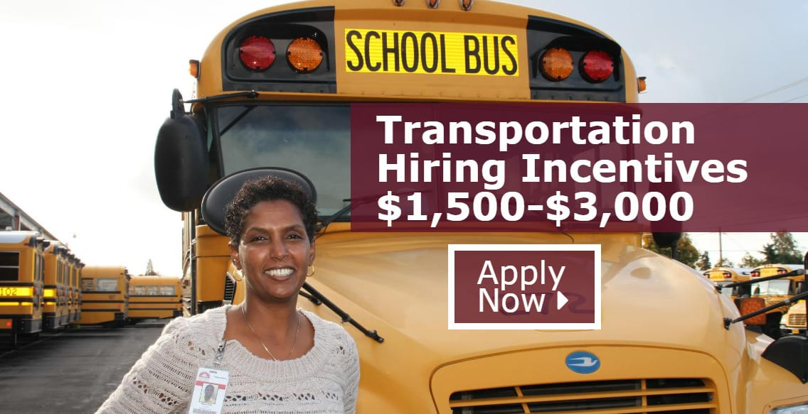 Bus Driver Hiring Incentives $1500-$3000! Apply Now!