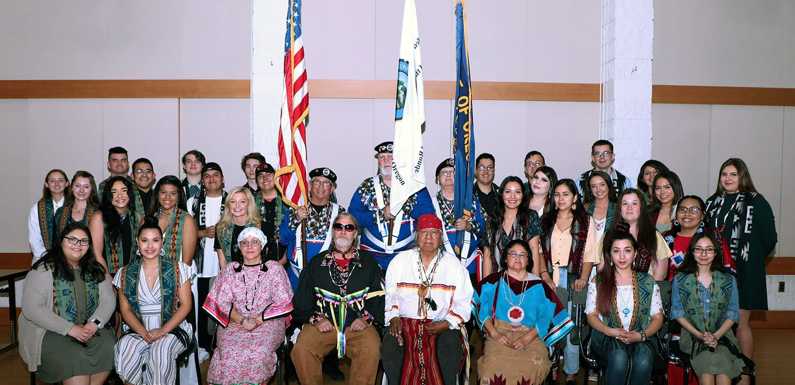 Group shot of many tribal elders and youth together