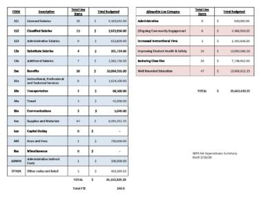thumbnail of SIA Expenditures with Summary