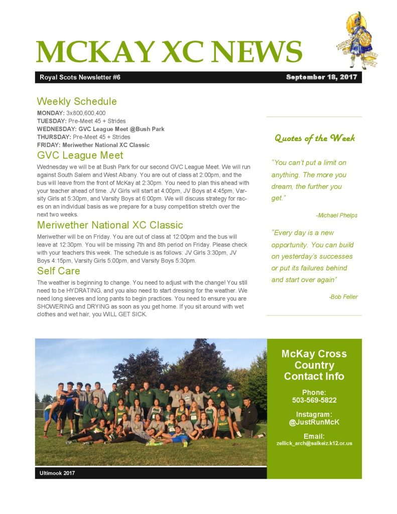 thumbnail of Newsletter Week 6