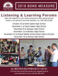 thumbnail of Bond listening and learning forums
