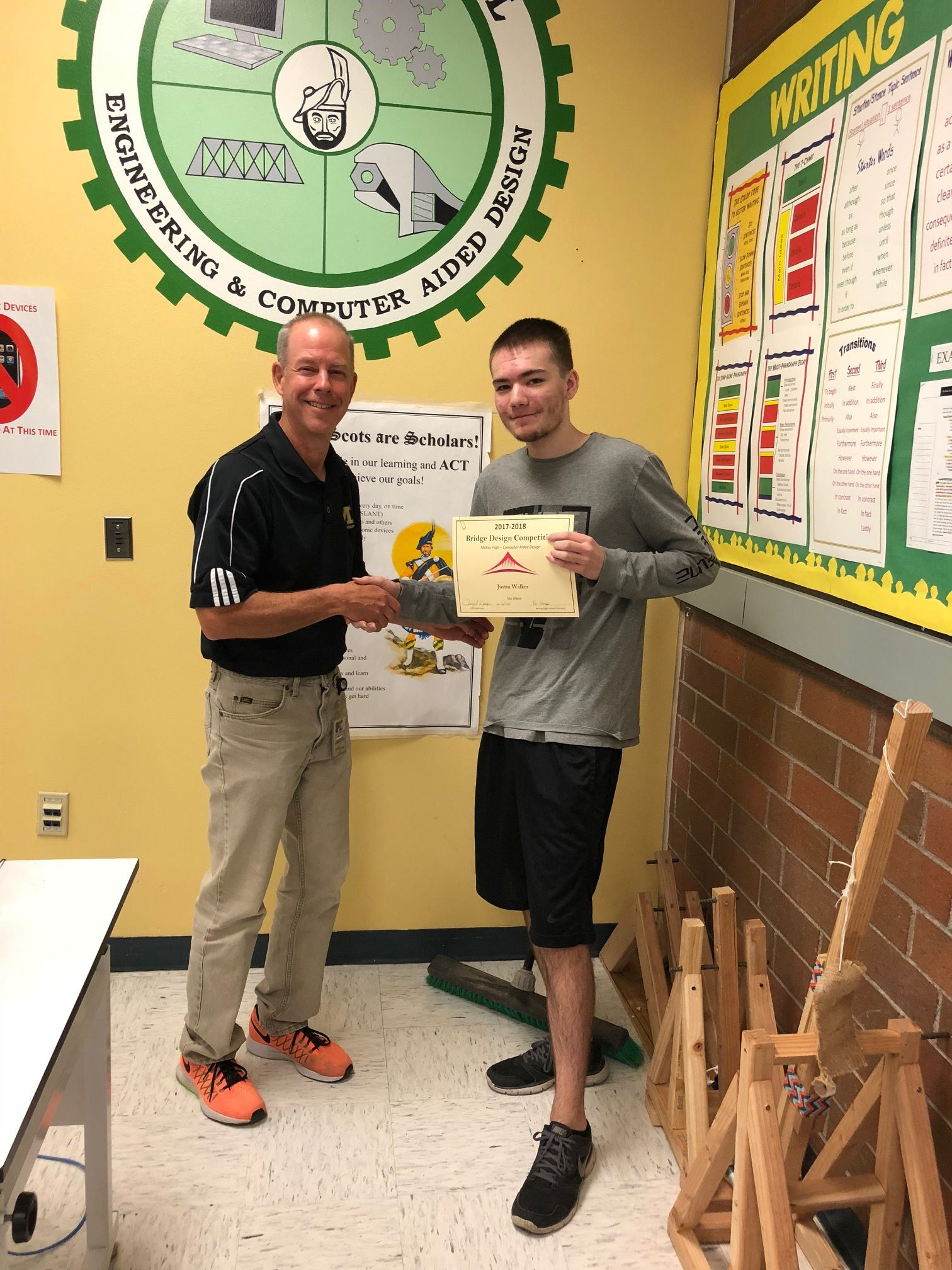 Mckay Cad Students Bridge Test Winners Announced Mckay High School