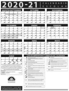 20-21 District Calendar-Spanish
