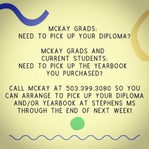 Diploma & Yearbook Pick-up