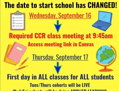 School Start Date Changed to Sept 16