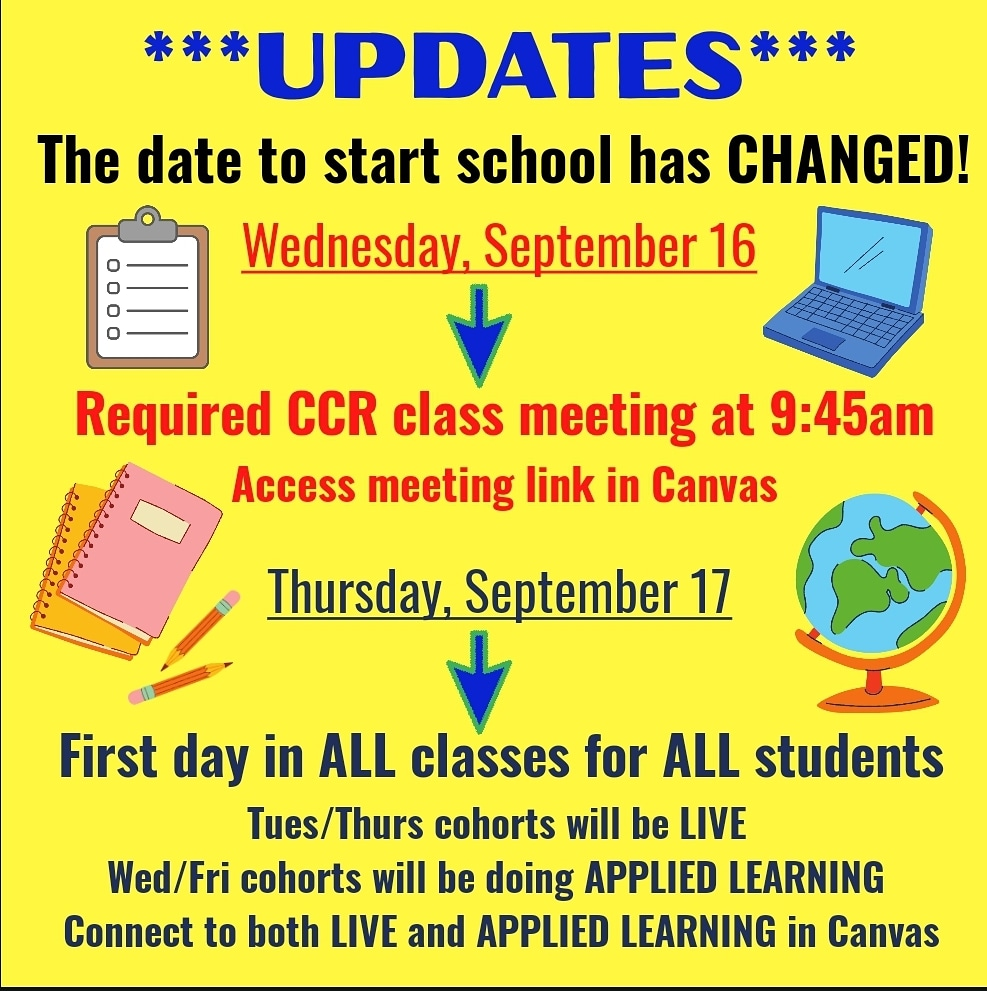 School Start Date Changed
