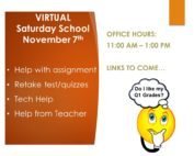 DL Saturday School Nov 7