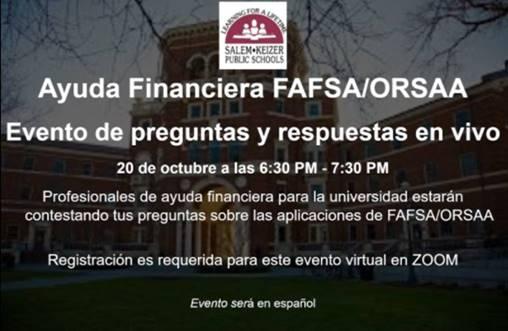 FAFSA Event-Spanish