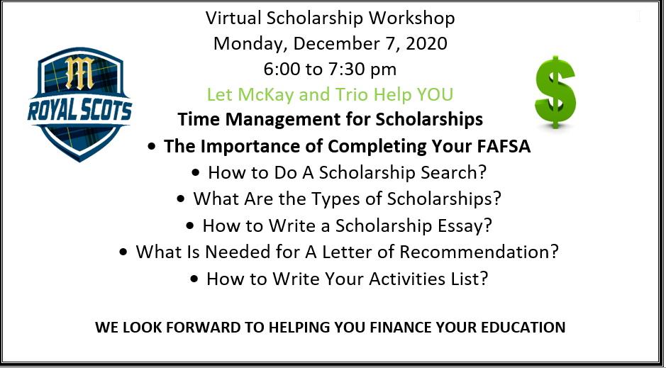Scholarship Workshop 12-7-20