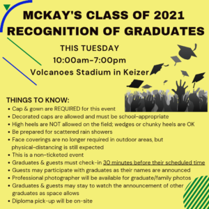 2021 Graduation Event Updates