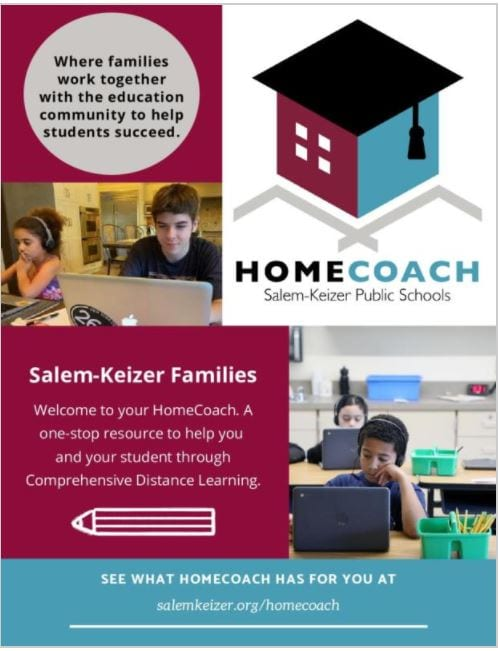Picture and description of the HomeCoach application for Salem-Keizer families