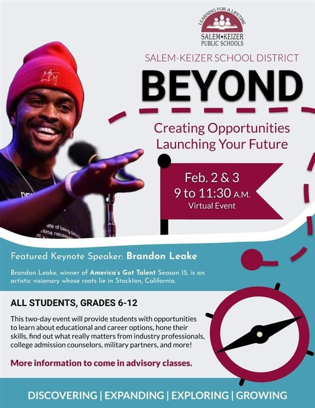 """Beyond"" Flyer announcing motivational speaker Brandon Leake"