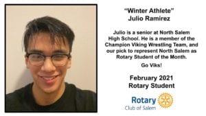 North Salem Rotary Student Julio Ramirez, Winter Athlete phot