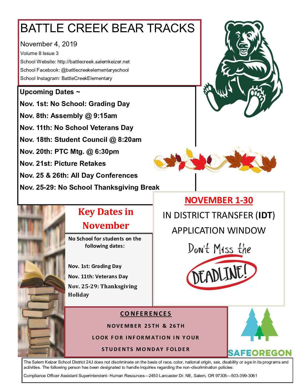 November Newsletter