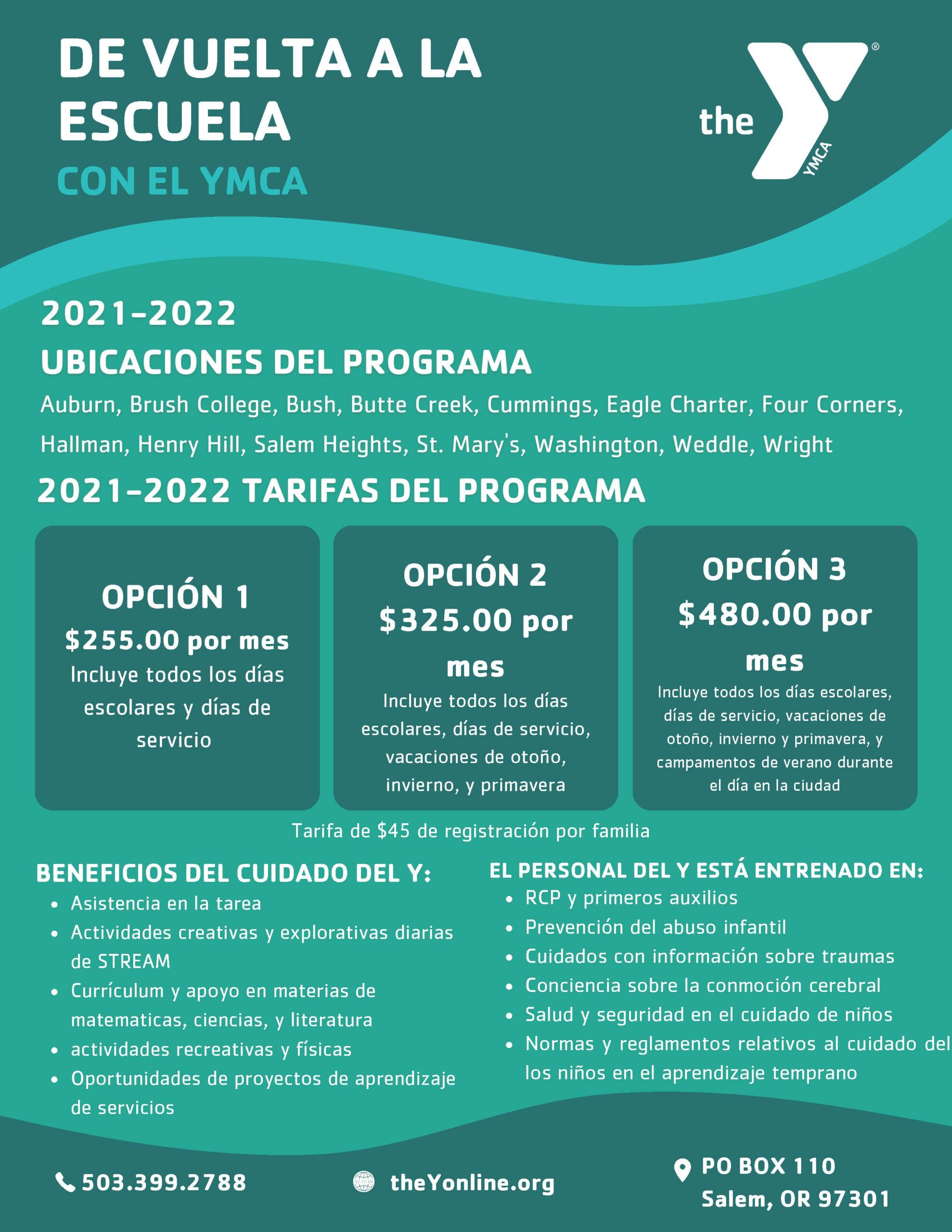 back to school with the Y - Spanish