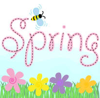 Spring with bee flowers