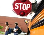 stop sign on bus