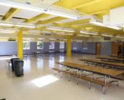 Inside the cafeteria expansion and multipurpose space