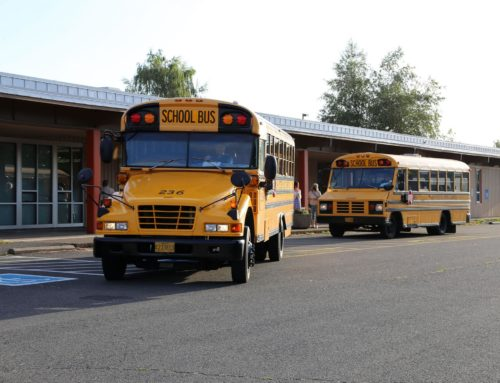 Elementary hybrid learning update and bus rider registration