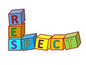 Blocks that say Respect