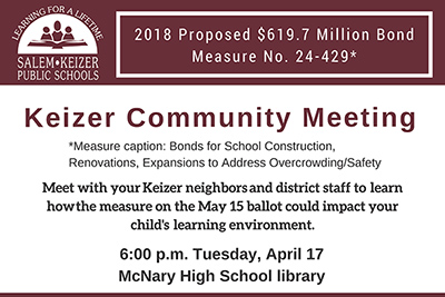Keizer Community Meeting announcement