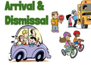 arrival dismissal car and students