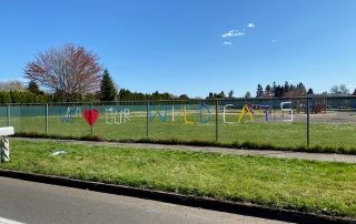We love our wildcats school fence picture