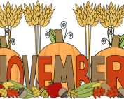 pumpkins and cornstalks
