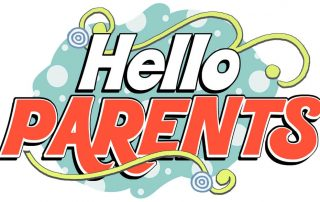 The words Hello Parents