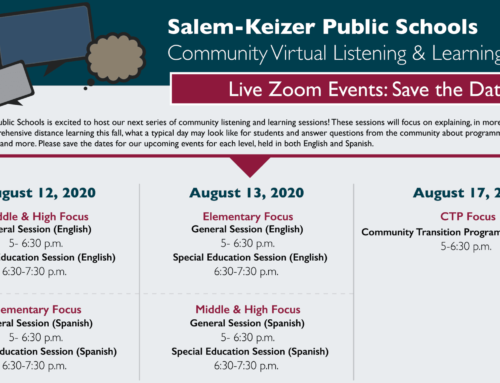 Live Zoom Events: Community Virtual Listening & Learning Sessions