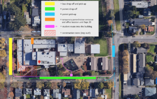 Richmond entry adjustments and traffic flow details