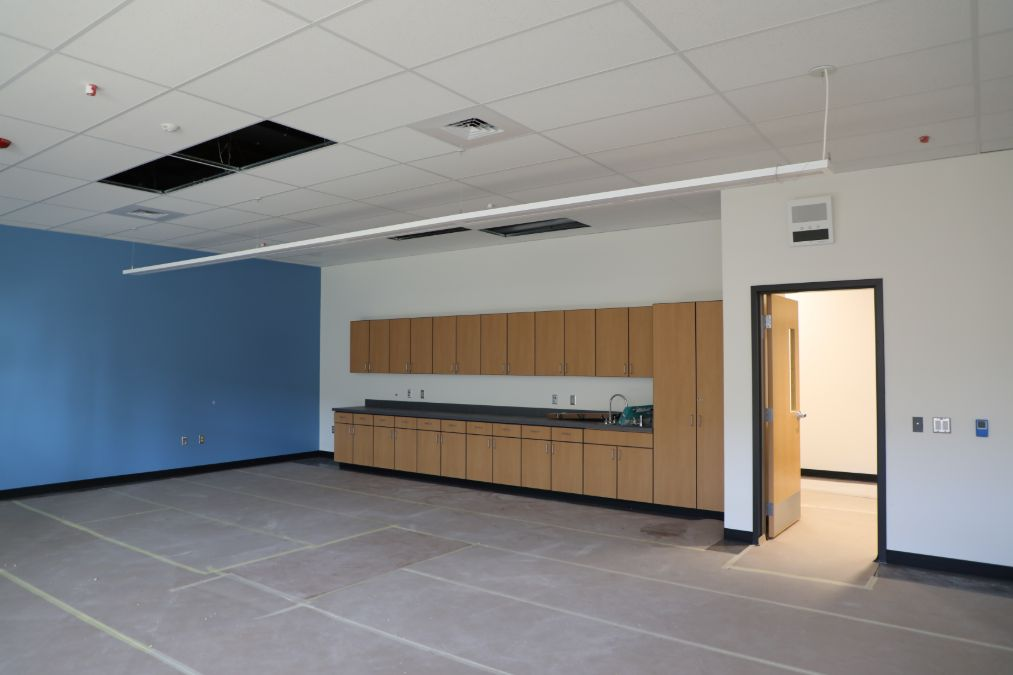 Inside a new classroom at Scott