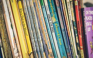 Row of kids books
