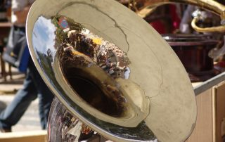 tuba up close - reflection