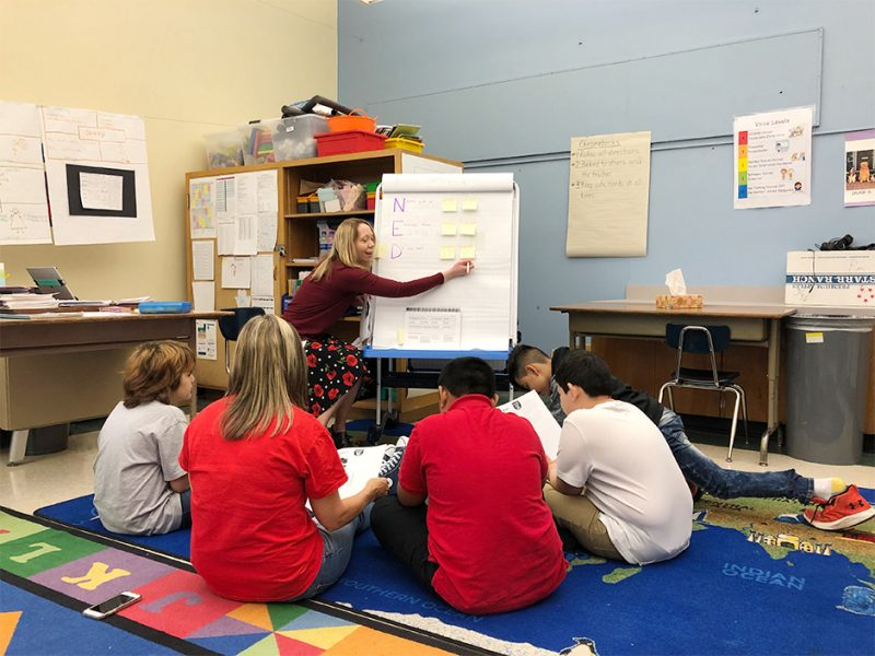 SKPS Superintendent Perry Visits Ms. Keegan's Class