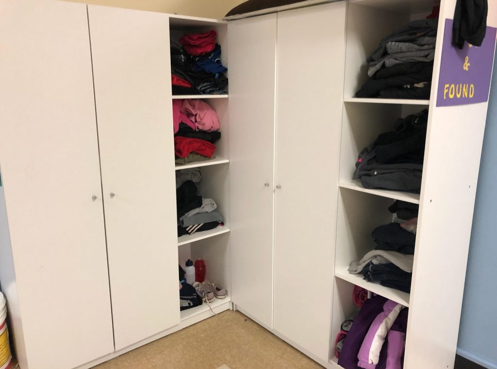 Lost and FOund closet is full and will be donated after Fall Conferences.
