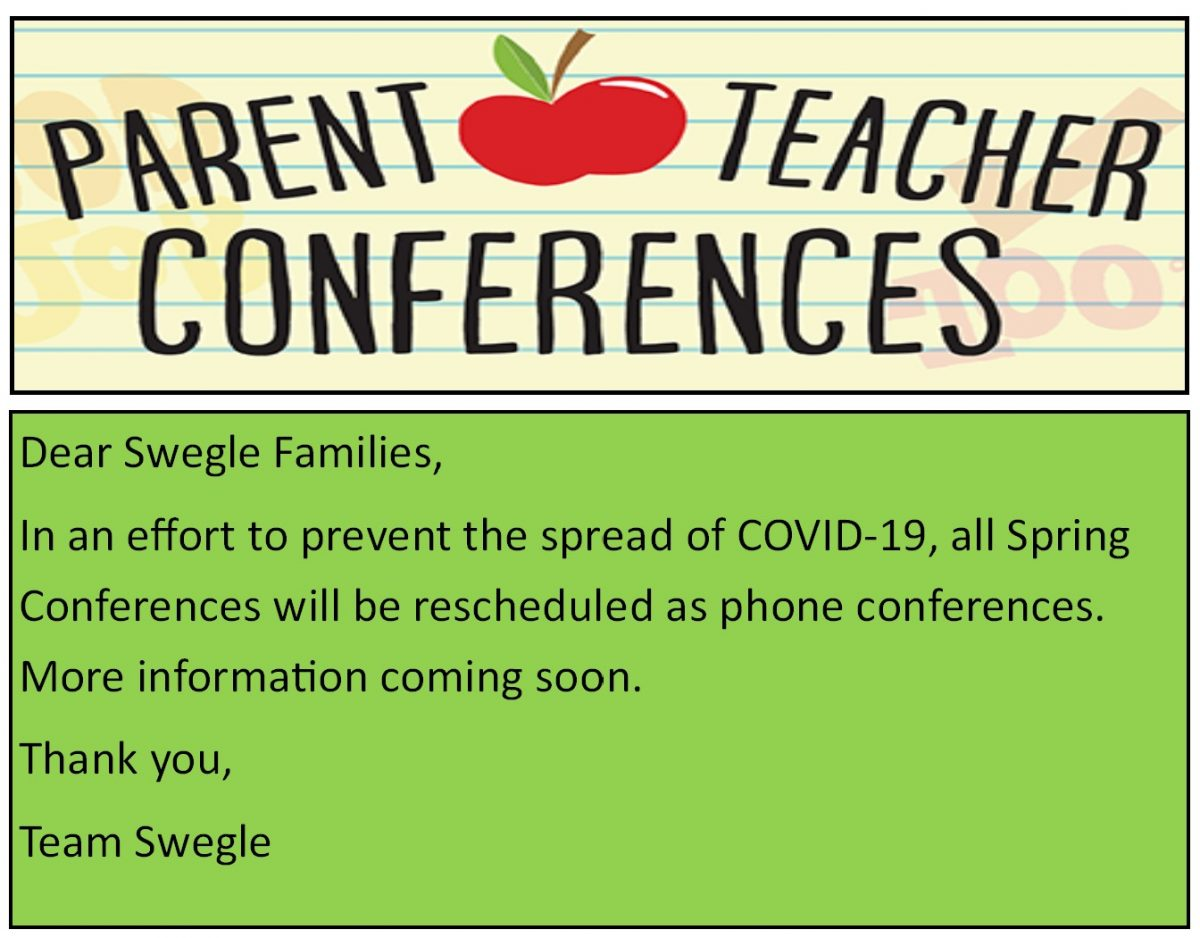 Parent Conferences rescheduled as phone conferences