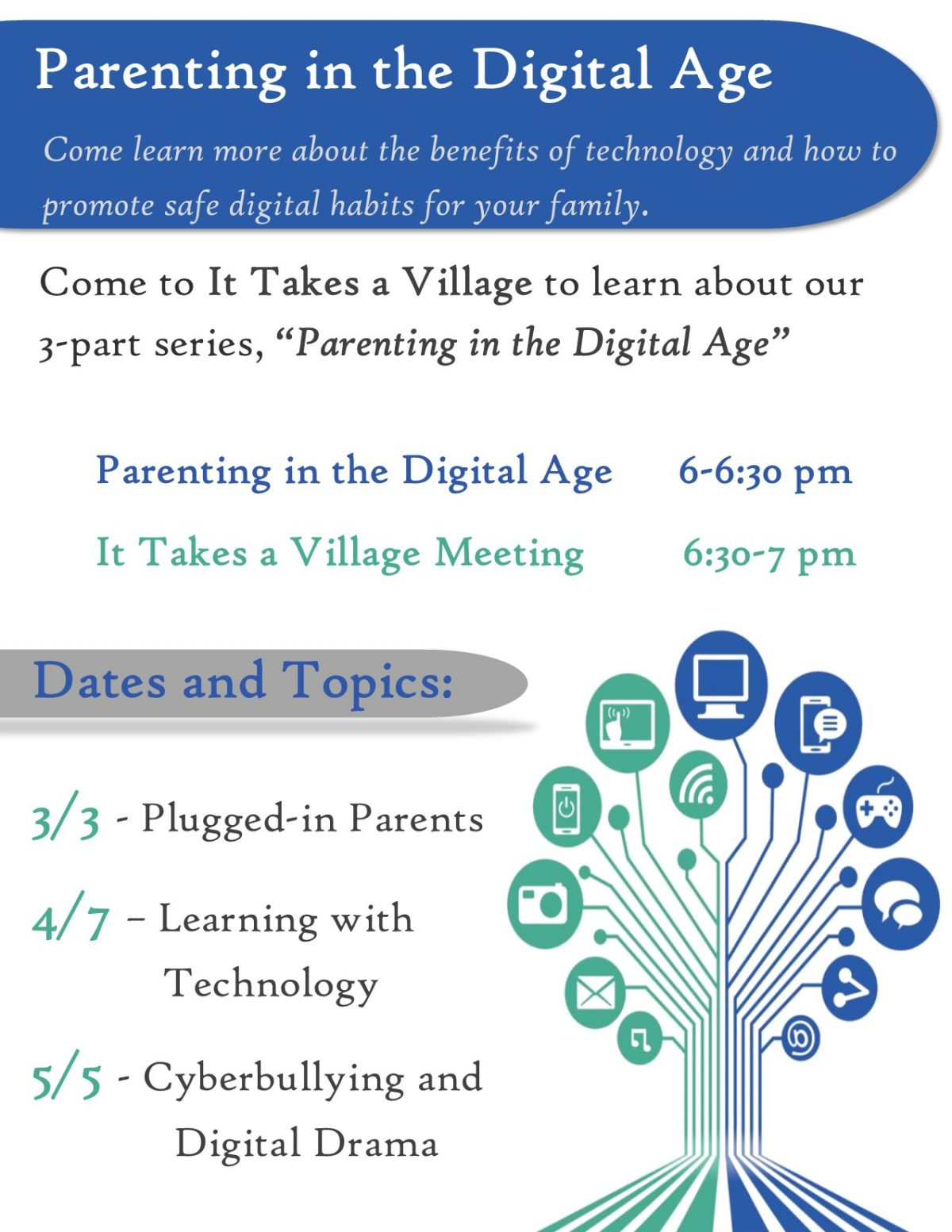 Details about our It Takes a Village Meeting