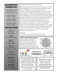 Elementary school pdf of newsletter