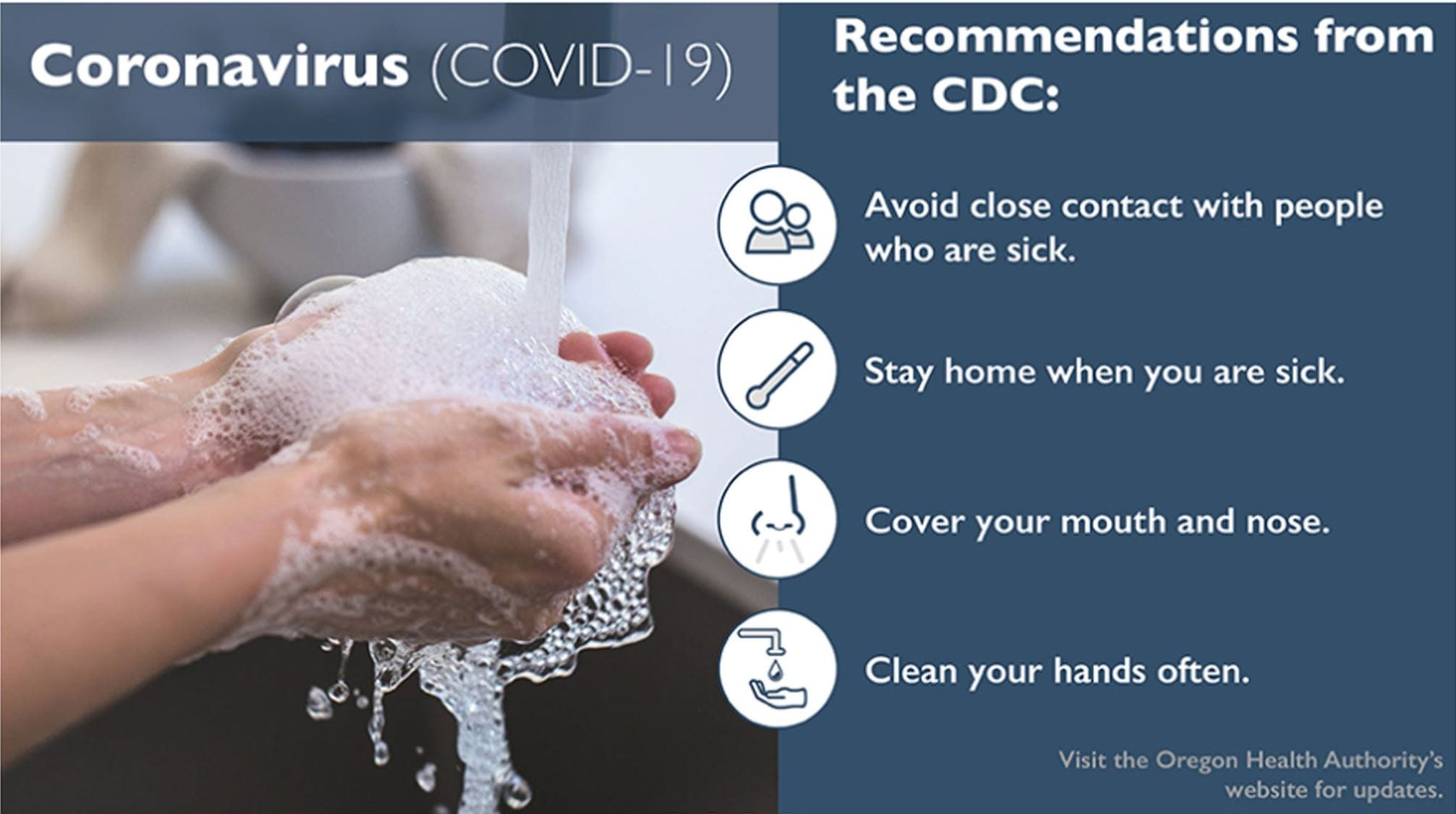 Recommendation dealing with Coronavirus