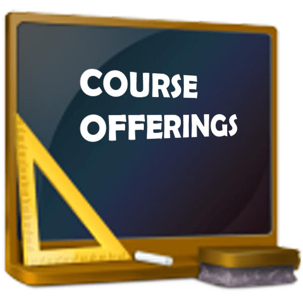 Blackboard with Course Offering on it