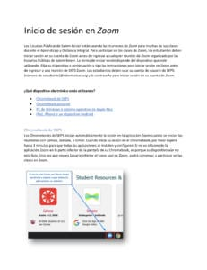PDF of Zoom Log In Instructions in Spanish