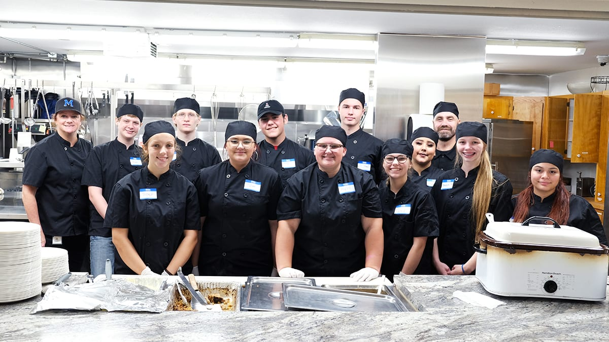 McNary student cooked dinner for 400 at the Keizer Community Dinner at St. Edward Catholic Church.
