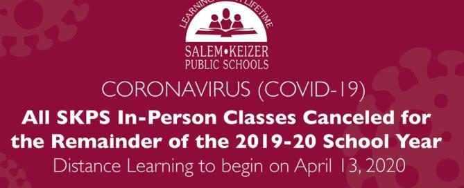SKPS In-Person Classes Canceled for the Remainder of 2019-20 School Year